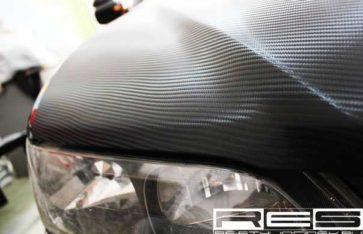 Оклейка автомобиля винилом Honda Accord Vagon 3D Карбон