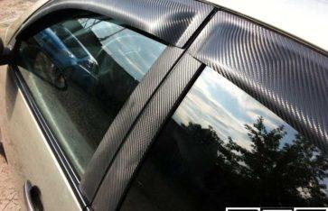Оклейка автомобиля Nissan Primera пленкой под 3D карбон