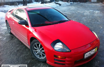 Красный карбон на Mitsubishi Eclipse