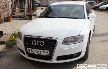 Audi A8 белый металлик