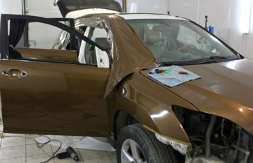Полная оклейка пленкой Lexus RX 350. Коричневый металлик.