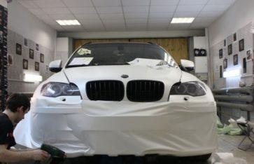 BMW X6 «HAMANN» — Белый матовый перламутр
