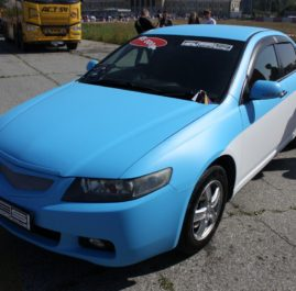 Honda Accord. Blue & White.