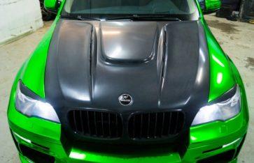 Потрясающий BMW X5 HAMANN  «Зеленый Хром»