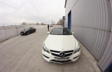 Защита фронтальной части нового Mercedes E-class.