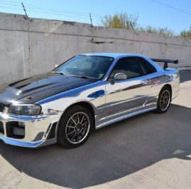 Nissan Skyline. Chrome.