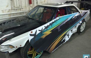 Оклейка дрифтового Toyota Chaser JZX81