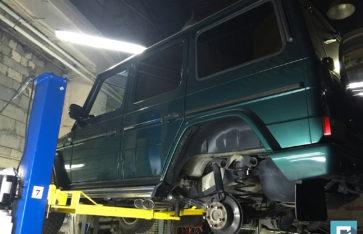 Новый выхлоп Mercedes-Benz Gelandewagen