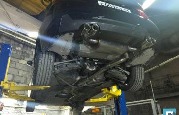 BMW 4-series разводка выхлопа на две стороны