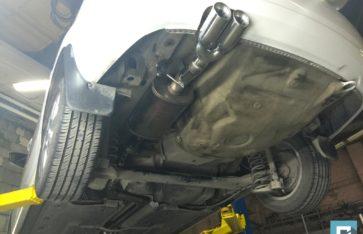Volkswagen Polo доработка выхлопной системы