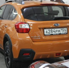 Оклейка защитной пленкой Subaru XV