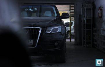 Полировка и нанесение защитного покрытия «Polish Angel» на Audi Q5.