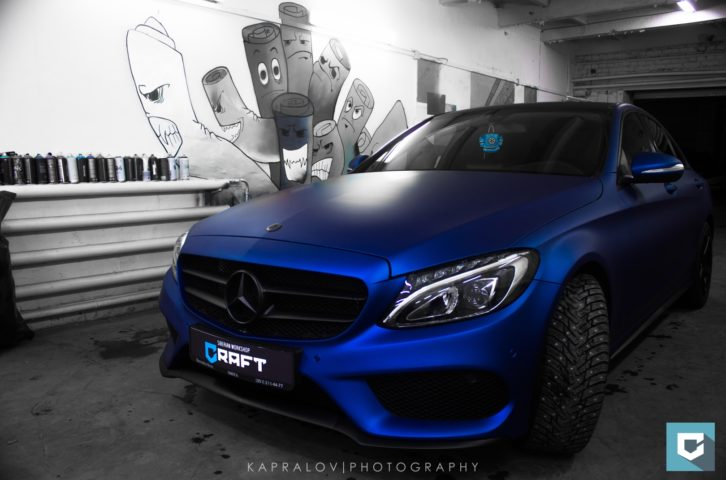 Mercedes-Benz C-Classe (w205) «Синий матовый металлик»