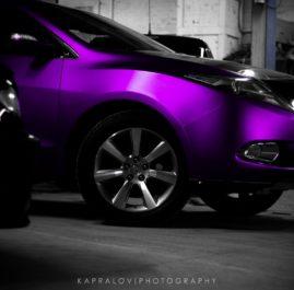Acura ZDX фиолетовый матовый хром «Teck Wrap»