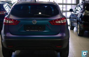 Nissan Qashqai Сине-фиолетовый матовый хамелеон.