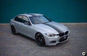 BMW 3-серии (f30) полная оклейка в матовую прозрачную пленку