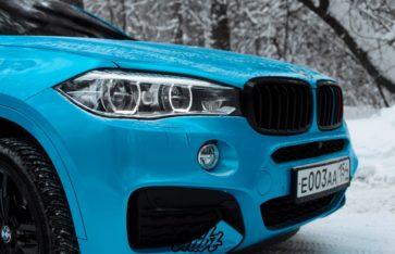 BMW X6m 5.0d Avery Bahama Blue Pearl