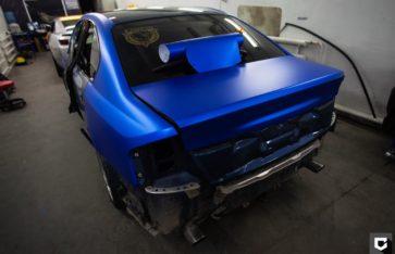 Subaru Legacy подарочная оклейка в синий матовый металлик