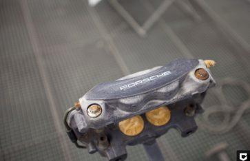 Окраска суппортов Porsche