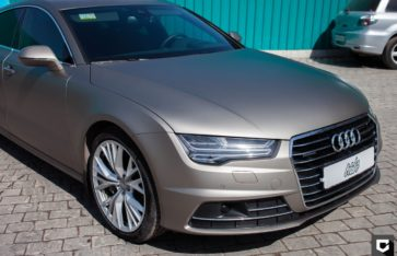 Audi A7 оклейка прозрачной матовой пленкой