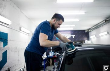 Porsche Macan S оклейка в полиуретановую пленку + нанесение керамического покрытия Ceramic Pro 9H