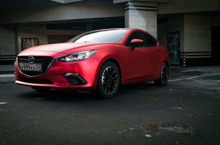 «New Mazda 3» оклейка кузова пленкой