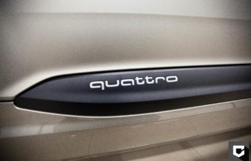 «New Audi Q7» стайлинг черной пленкой + реставрация салона