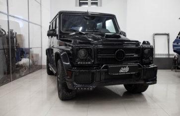 «Mercedes-Benz G-Classe» полировка и установка тюнинга