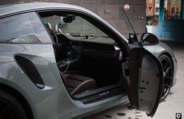 PORSHE 911 TURBO S полная оклейка в пленкуHexis Nardo Gray