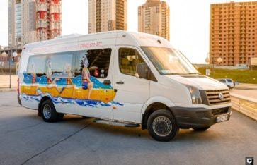 VW Crafter брендирование и реклама на транспорте