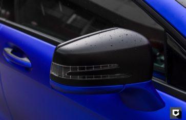Mercedes-Benz CLS оклейка кузова пленкой синий матовой металлик