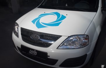 Lada Largus брендирование для компании «Атмосфера»