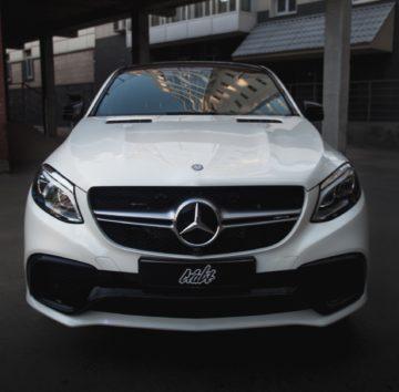 Mercedes GLE63 AMG защита прозрачной полиуретановой пленкой