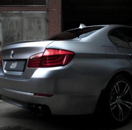 BMW 5 оклейка в цветную пленку