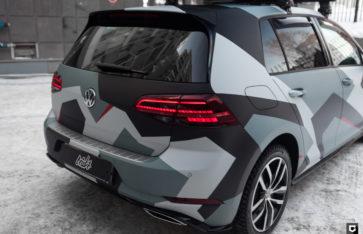 VW Golf (печать на пленке в стиле городской камуфляж)