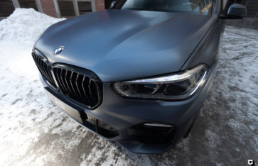 BMW X5 G05 «Полная оклейка в Satin Metallic Grey Blue»