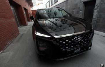 Hyundai Santa Fe «Защита фронтальной части полиуретановой пленкой»