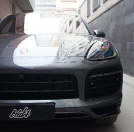 Porsche Cayenne S «Защита фронтальной части полиуретновой пленкой»