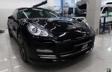 Porsche Panamera «Детейлинг полировка, нанесение керамического состава, химчистка»
