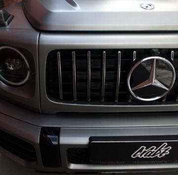 Mercedes G63 «Полная оклейка в матовую полиуретановую пленку»