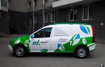 Lada Largus брендирование для Milka Trade
