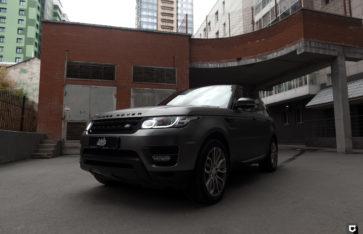 Land Rover Range Rover Sport «Оклейка Black Matte Chrome»