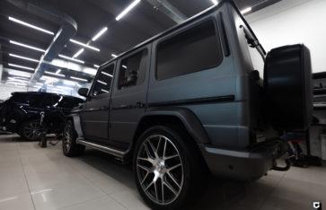 Mercedes-Benz G-class «Полная оклейка Matte Metalic Grey»