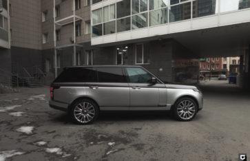 Land Rover Range Rover Vogue «Частичная оклейка в серый глянец + прозрачный полиуретан»