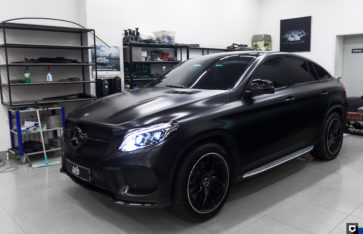 Mercedes-Benz GLE «Оклейка в Black Satin»