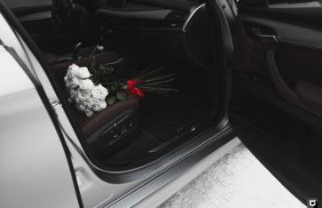 BMW X6 «Полная оклейка в серый сатин»