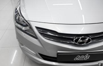 Hyundai Solaris «Частичная оклейка в полиуретан, комплекс по полировке + нанесение керамики»