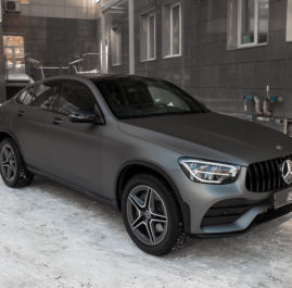 Mercedes-Benz GLC «Полная оклейка в Matte Metallic Grey»