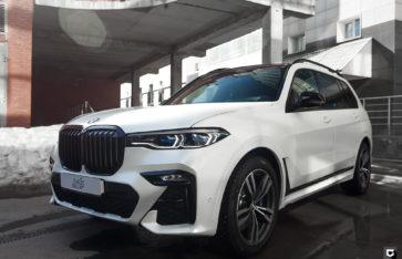 BMW X7 «Полная оклейка в White Satin Pearl»