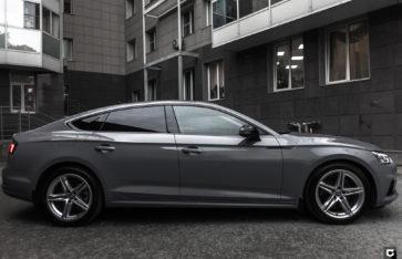 Audi A5 «Полная оклейка в серый глянец»